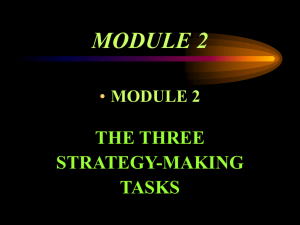 example : strategic objectives