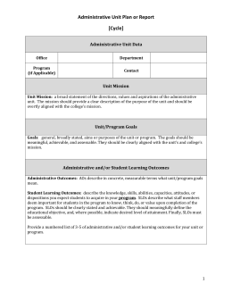 Administrative Assessment Template