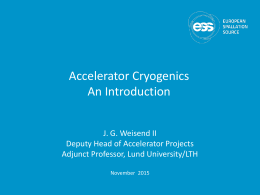 Cryogenics lecture by John Weisend