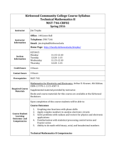 Tech Math II_Syllabus.doc - Kirkwood Community College