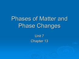 Phases of Matter Liquids and Solids