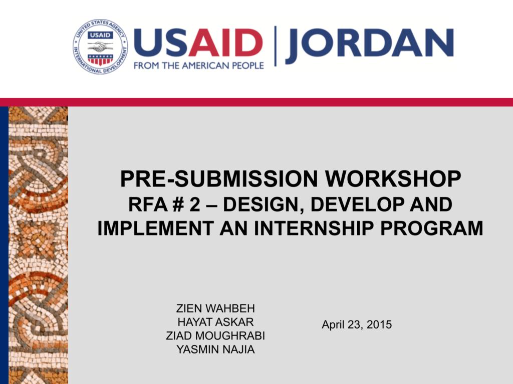 PowerPoint Presentation - Jordan Competitiveness Program (JCP)