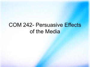 COM 242- Persuasive Effects of the Media