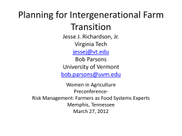 Planning for Intergenerational Family Business Transition