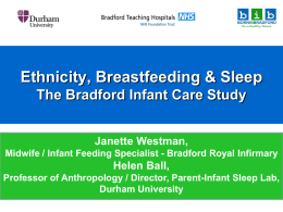 Ethnicity, breastfeeding and sleep: Results of the