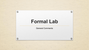 formal lab comments