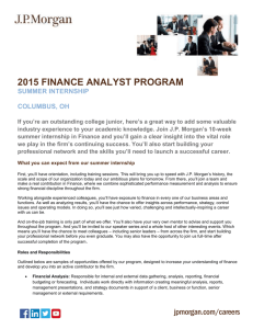 Finance Analyst Program