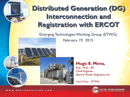 3. Distributed Generation Interconnection and