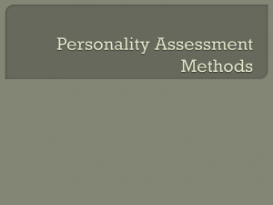 Personality Assessment Methods - Creative