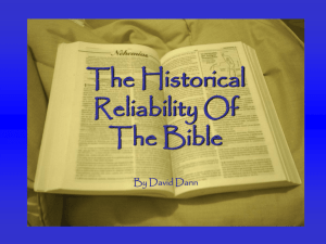 The Historical Reliability Of The Bible
