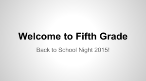 Welcome to Fifth Grade - Salem Lutheran School