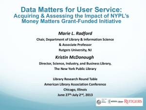 Data Matters for User Service: Acquiring & Assessing the Impact of
