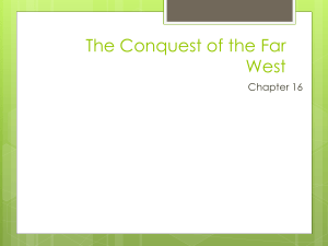 Chapter 16 The Conquest of the Far West