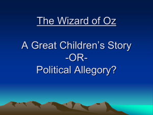 The Wizard of Oz: A Political Allegory?