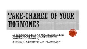 Take-Charge of Your Hormones