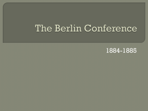The Berlin Conference - Aurora Public Schools