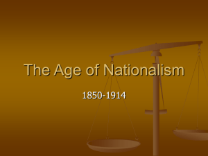 The Age of Nationalism