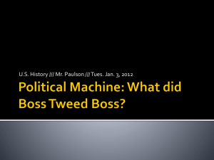 Political Machine: What did Boss Tweed Boss?