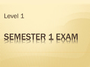 Semester 1 Exam - Beavercreek City School District