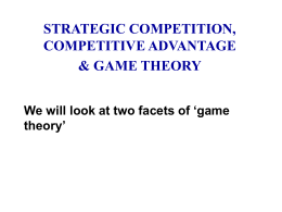 oligopoly: strategic competition