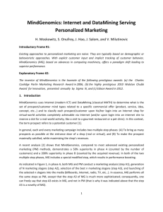 Internet and DataMining Serving Personalized Marketing