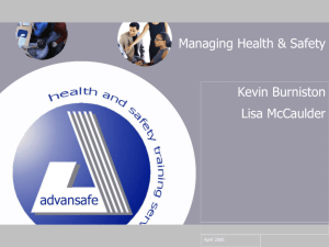 Managing Health & Safety