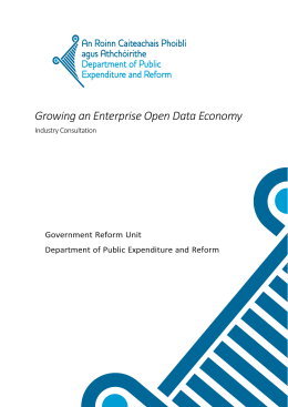 Open Data Business Paper here - Department of Public Expenditure