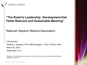 Korn Ferry 2014 PPT Template - National Hispanic Medical