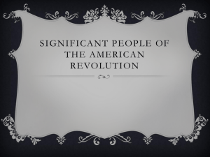 Significant people of the American Revolution