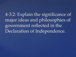 4-3.2: Explain the significance of major ideas and philosophies of