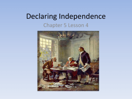 Declaring Independence Powerpoint
