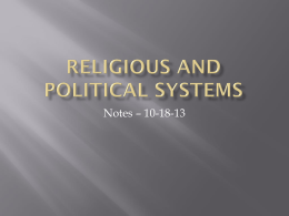 Religious and Political systems