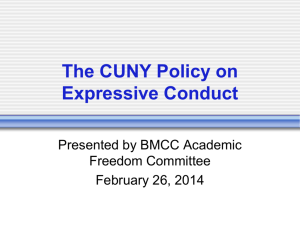 The CUNY Policy on Expressive Conduct
