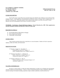 Science Syllabus 2015-16