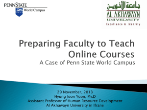 Preparing Faculty to Teach Online Courses