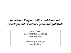 Individualism and Economic Performance: Evidence from Rainfall