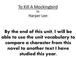 to kill a mockingbird full character list