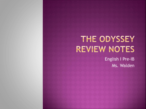 The Odyssey Review Notes - Ms. Walden's English Class