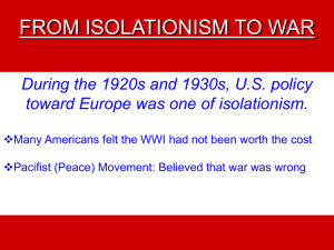 From Isolationism to War - Binghamton City Schools