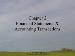 Financial Accounting Chapter 2