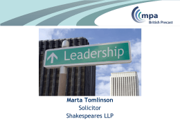 The legal obligations for leaders - Marta Tomlinson