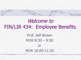 Fin 360: Employee Benefits