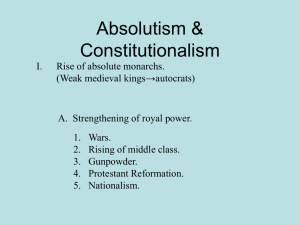Absolutism & Constitution
