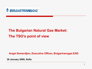 Presentation by Bulgartransgaz