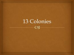 13 Colonies - vbsnyder