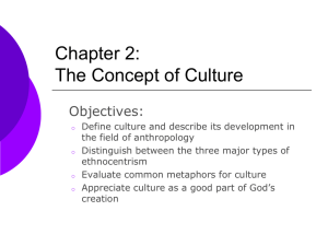 Chapter 2: The Concept of Culture