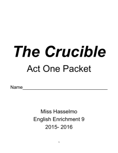 Act One Packet - HasselmoEnglishEnrichment