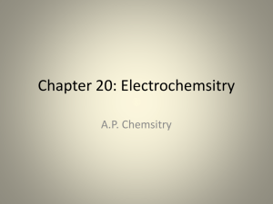 Chapter 20: Electrochemsitry