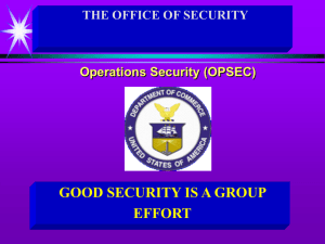 (OPSEC) Program Managers Course