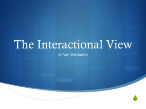 INTERACTIONAL VIEW ch13